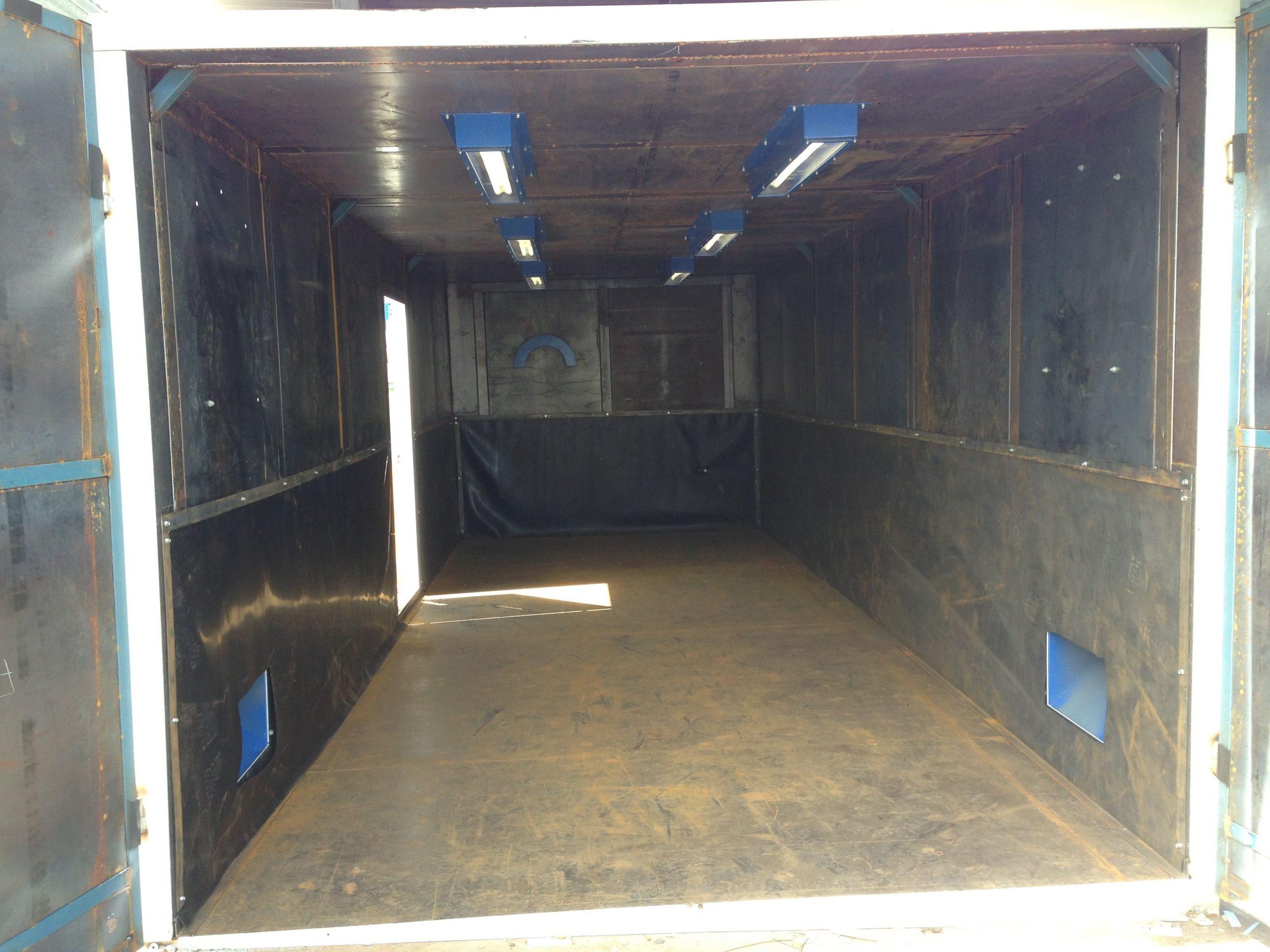 Inside Grydale Blast Booth