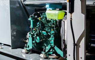 Diesel Engine on JMS 20 Mobile Diesel Track Dust Collector