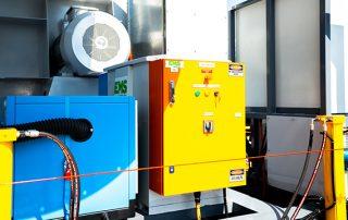 Emergency Stop System on JMS 40 Mobile Hybrid Skid Collector