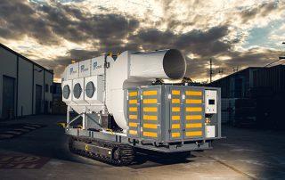 Mobile Diesel Track Dust Collector JMS 10 MDT Clean air exhaust