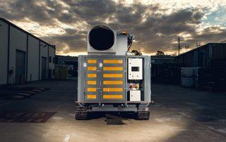Mobile Diesel Track Dust Collector JMS 10 MDT rear view