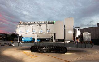 Mobile Diesel Track Dust Collector JMS 50 MDT side view